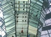 Inde i Glaskuplen af den tyske Reichstag
